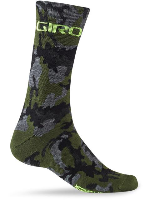 Giro Seasonal Socks Unisex Merino Wool camo/highlight yellow